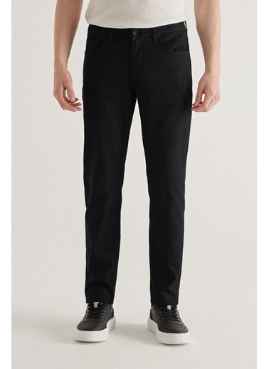 Avva  Erkek Antrasit 5 Cepli Armürlü Slim Fit Pantolon A11Y3031 Siyah